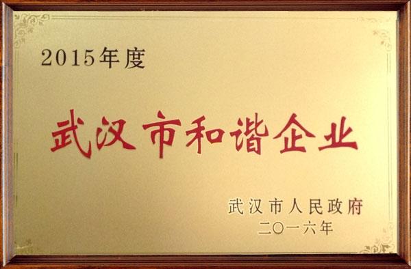 2015年度武汉市和谐企业